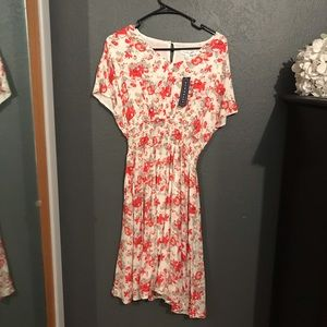 DownEast White and Floral Dress